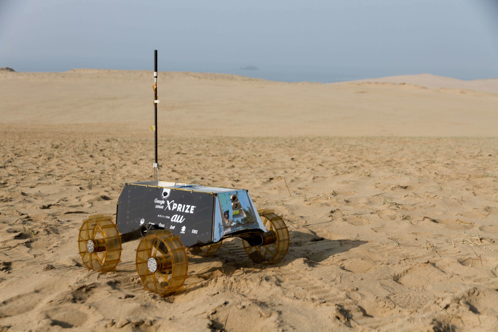 取砂丘で実施したフィールド試験の様子